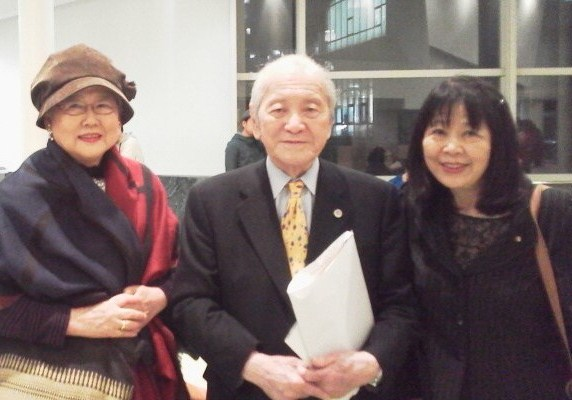 左から 広中和歌子 元環境庁長官 相沢英之 元経済企画庁長官